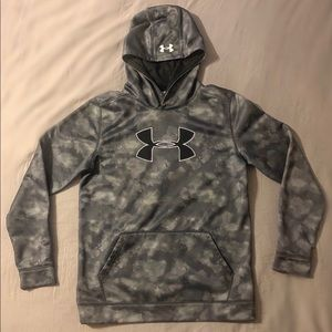 Under Armour Boys' Gray Patterned Hoodie